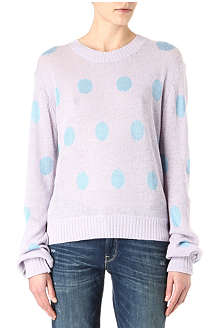 WILDFOX Polka-dot knitted jumper