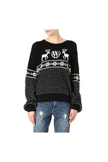 WILDFOX Pastel snow babe holiday jumper