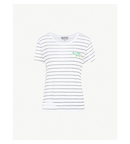 WILDFOX Triceratops cotton-jersey T-shirt (Clean+white