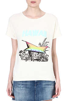 WILDFOX Camden hawaiian rainbow t-shirt