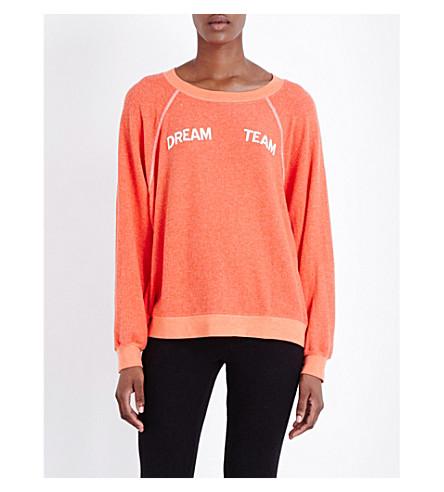 WILDFOX Dream team fleece sweatshirt (Marinara