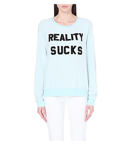 WILDFOX Reality sucks jersey sweatshirt (Jacuzzi