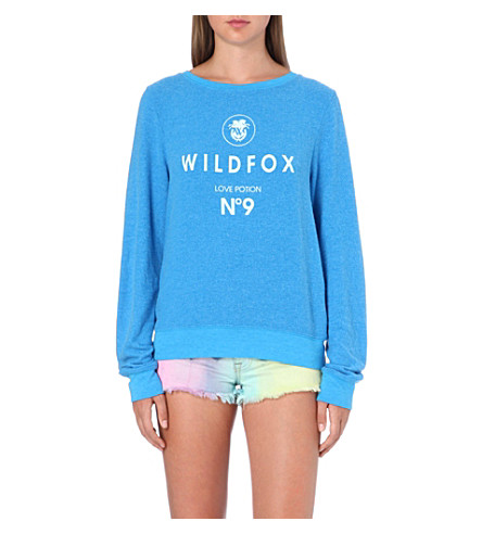 WILDFOX Ibize No. 9 jersey sweatshirt (Cerulian