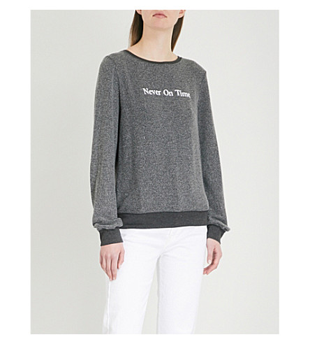 WILDFOX Never On Time fleece sweatshirt (Black