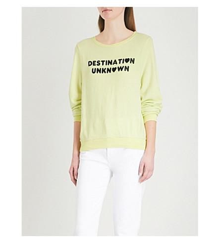 WILDFOX Destination Unknown fleece sweatshirt (Yellow+glow