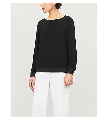 WILDFOX Essentials Baggy Beach fleece sweatshirt (Clean black