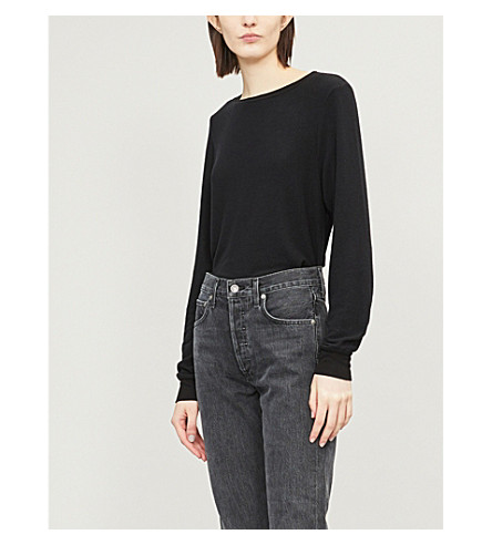 WILDFOX Essentials Baggy Beach fleece sweatshirt (Jet black