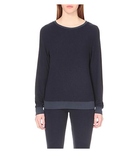 WILDFOX Essentials Baggy Beach fleece sweatshirt (Oxford blue