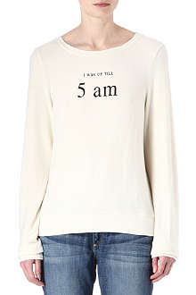 WILDFOX I Was Up Till 5am sweatshirt
