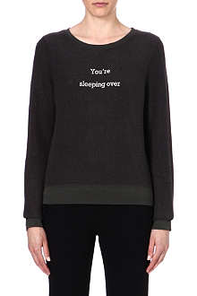 WILDFOX Late Night Surprise jersey sweatshirt