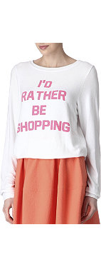 WILDFOX Rather Be Shopping top