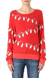 WILDFOX Varsity glowing light sweatshirt