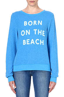 WILDFOX Born on the beach jersey sweatshirt