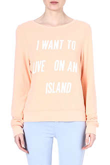 WILDFOX Live on an island sweatshirt