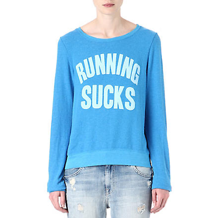 WILDFOX Running Sucks sweatshirt (Cerulean