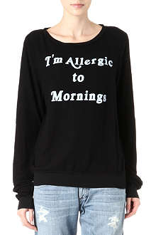 WILDFOX I'm Allergic to Mornings sweatshirt