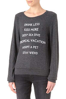 WILDFOX New Year's Resolutions sweatshirt