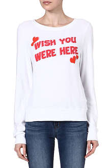 WILDFOX Wish You Were Here sweatshirt