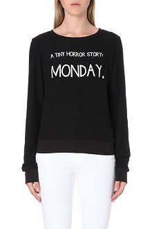 WILDFOX Tiny Horror Story jersey top