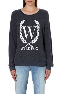WILDFOX Laurel jersey sweatshirt