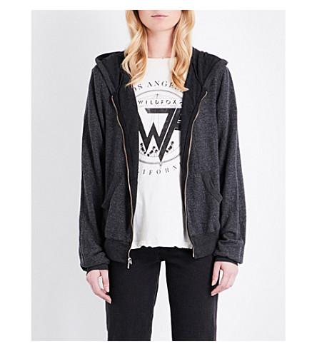 WILDFOX Worth It jersey hoody (Clean black