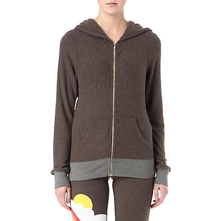 WILDFOX Perfect day jersey zipped hoody (Firestone