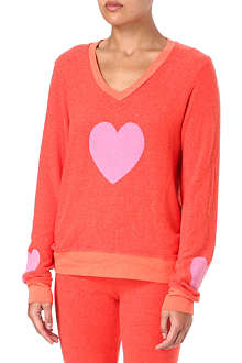 WILDFOX Happy heart sweatshirt