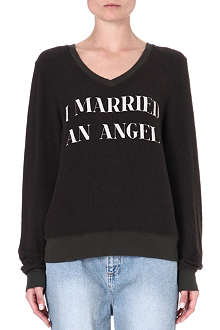 WILDFOX I Married an Angel sweatshirt