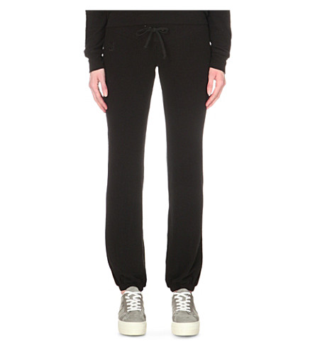 WILDFOX malibu skinny jogging bottoms (Jet black