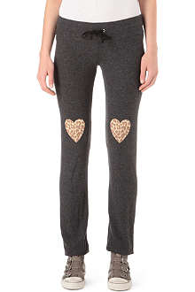WILDFOX Leopard heart jogging bottoms
