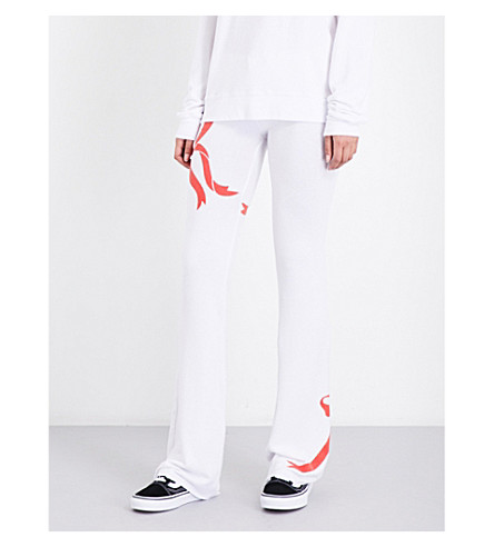 WILDFOX Gift Wrapped fleece jogging bottoms (Clean+white