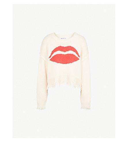 WILDFOX First Kiss cotton jumper (Nude+haze
