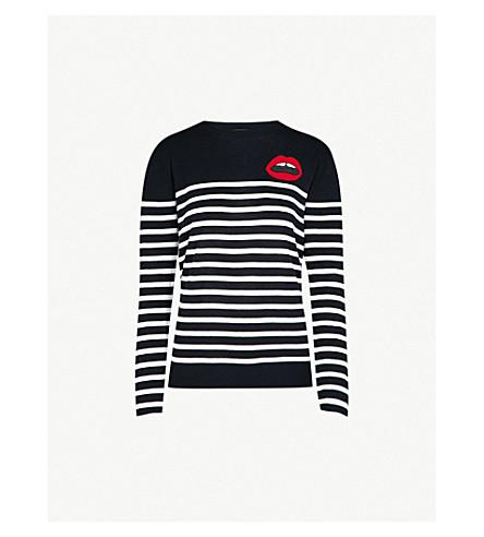 MARKUS LUPFER Breton striped Lara Lip cotton jumper (Navy/white