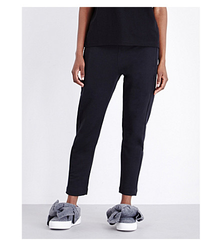 MARKUS LUPFER Lara Lip cotton-jersey jogging bottoms (Black