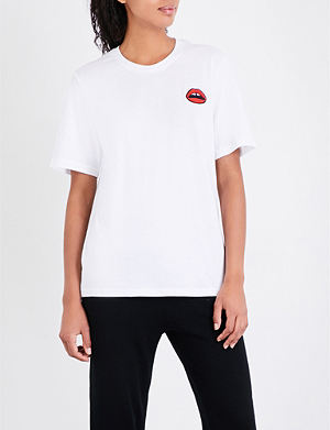 Cheapest Alex Embellished Cotton-jersey T-shirt - Navy Markus Lupfer Outlet Huge Surprise The Cheapest pglOlKx