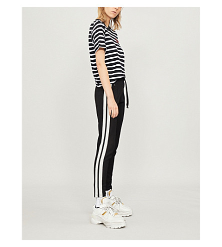 MARKUS LUPFER Lara Lip striped cotton-jersey t-shirt (Black/white