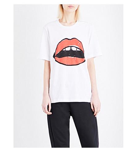 MARKUS LUPFER Lara Lip Alex cotton-jersey T-shirt (White