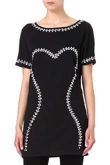 MARKUS LUPFER Jewel stone bodice t-shirt dress