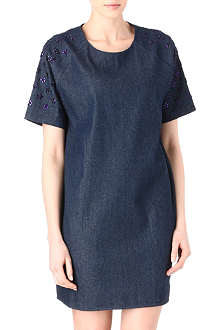 MARKUS LUPFER Dahlia embellished denim dress