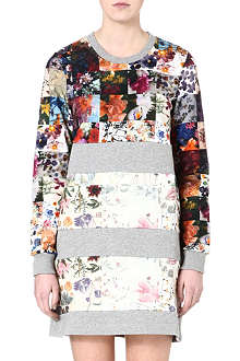 MARKUS LUPFER Floral patchwork dress