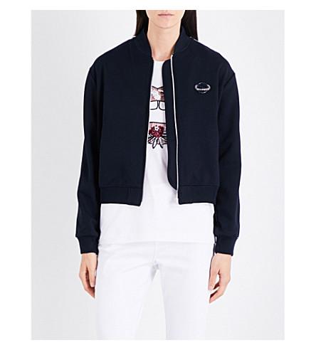 MARKUS LUPFER Sequin-embellished Planet  jersey jacket (Navy