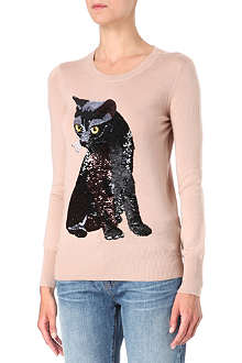 MARKUS LUPFER Felix cat sequin jumper