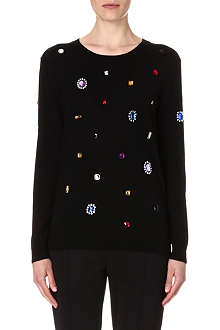 MARKUS LUPFER Jewelled wool jumper