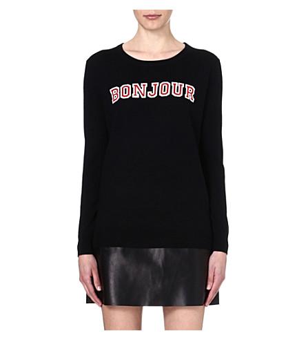 MARKUS LUPFER Bonjour Au Revoir wool jumper (Black