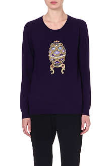 MARKUS LUPFER Egg sequinned wool jumper