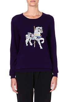 MARKUS LUPFER Carousel Horse embellished wool jumper