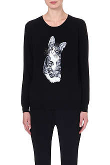 MARKUS LUPFER Kitten sequinned wool jumper