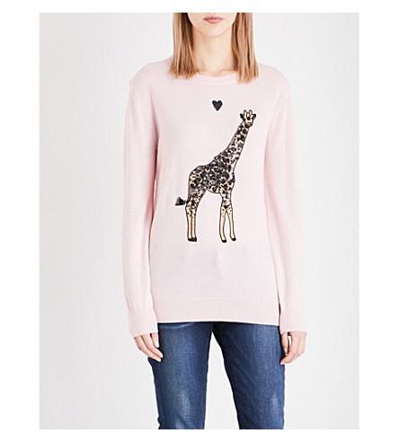 MARKUS LUPFER Giraffe merino wool jumper (Powder pink