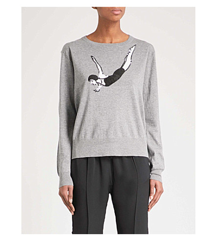 MARKUS LUPFER Diver Alice sequinned cotton jumper (Grey