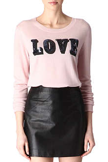 MARKUS LUPFER Sequinned Love jumper